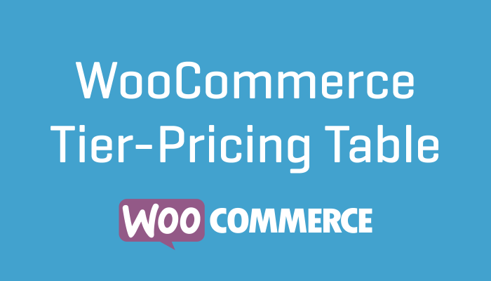 WooCommerce Tier-Pricing Table