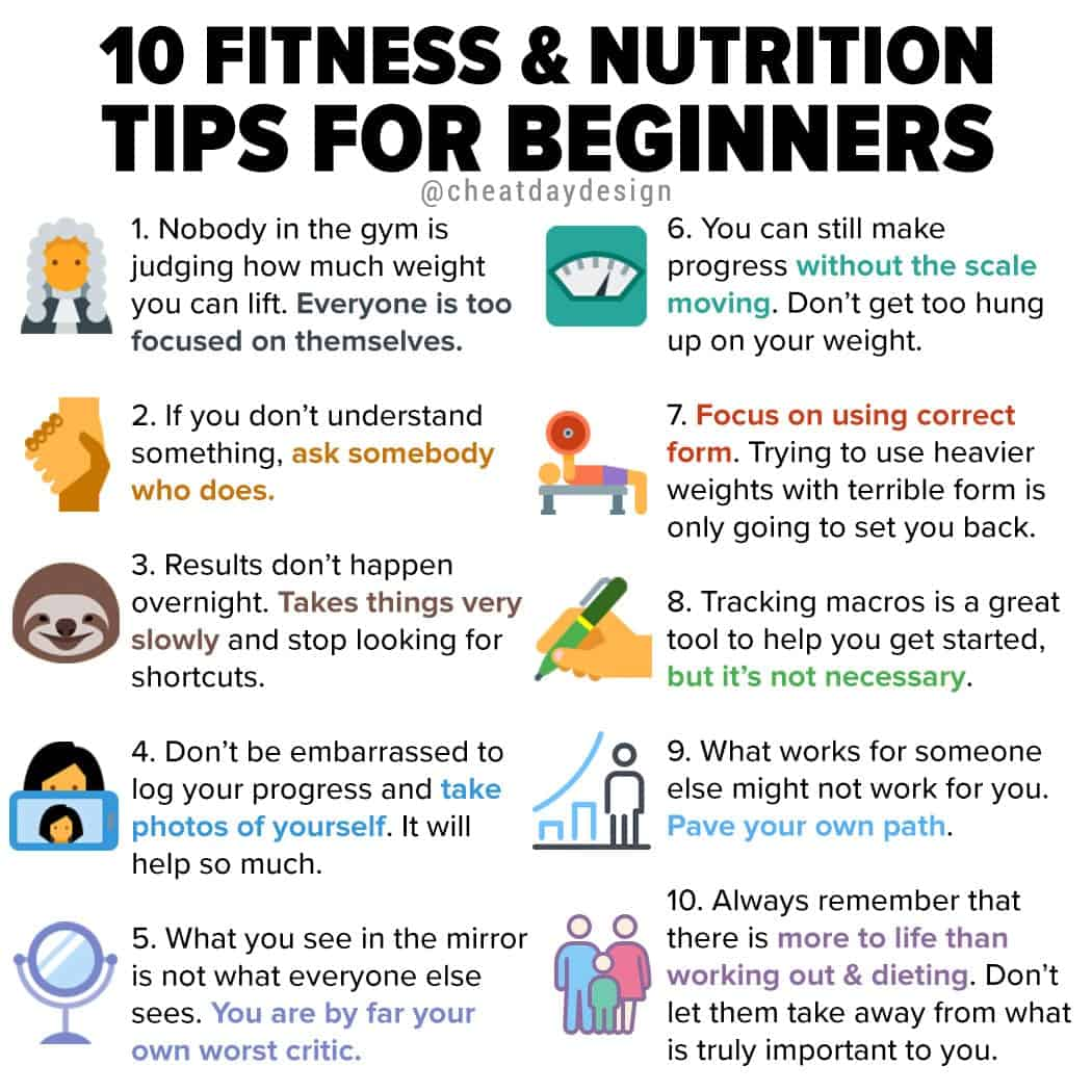 10 Fitness Amp Nutrition Tips For Beginners