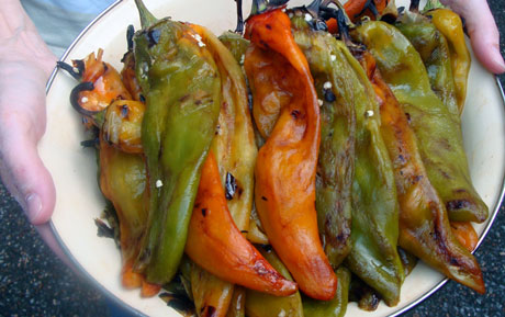 peeled roasted green chiles