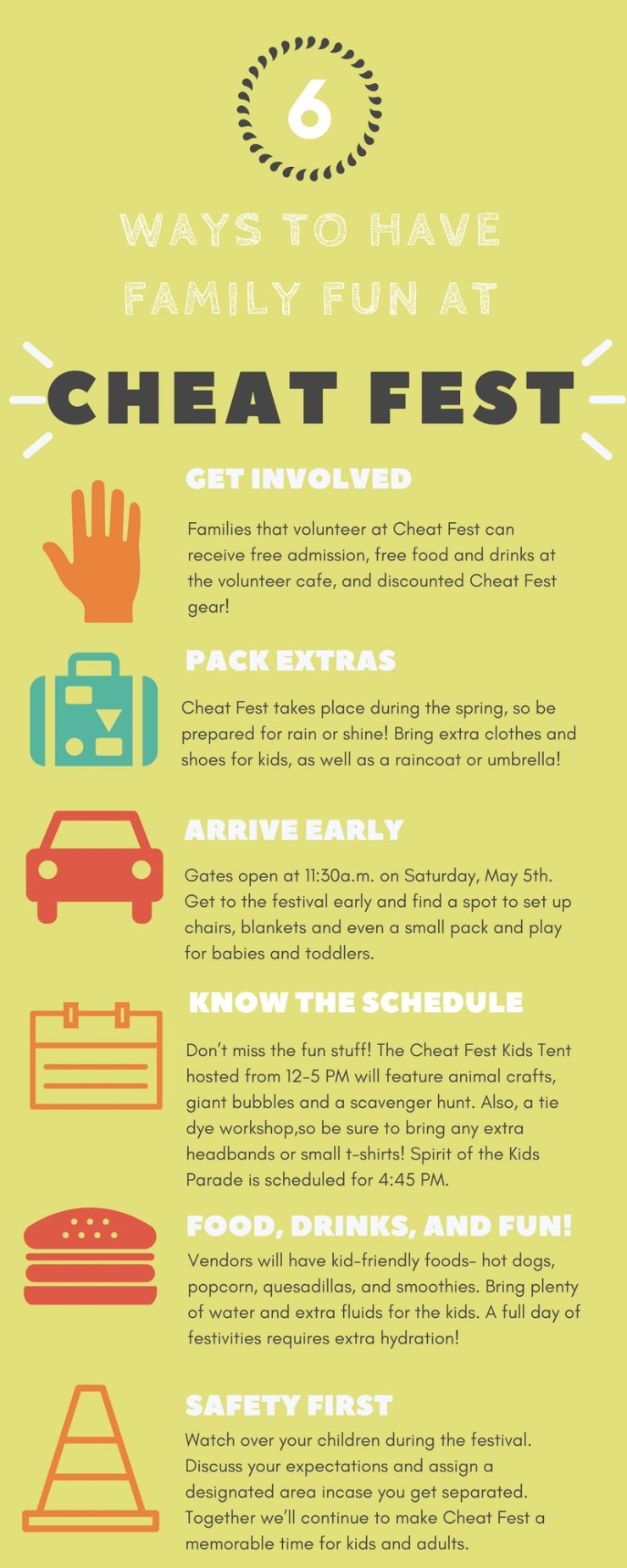 Fun Ideas for Charity Infographic
