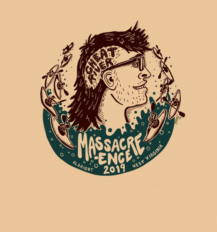 2019 Down River Race T-Shirt Artwork by Harris Wright