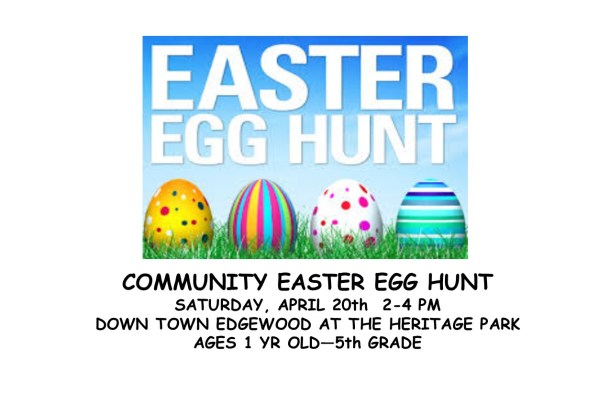 EDGEWOOD COMMUNITY EASTER EGG HUNT!!!!!