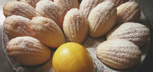 tangy lemon madeleines