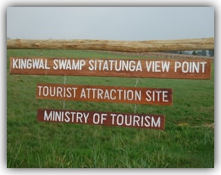 Let's Go to the Kingwal Swamp Sign by ministry of Tourism at Kingwal.