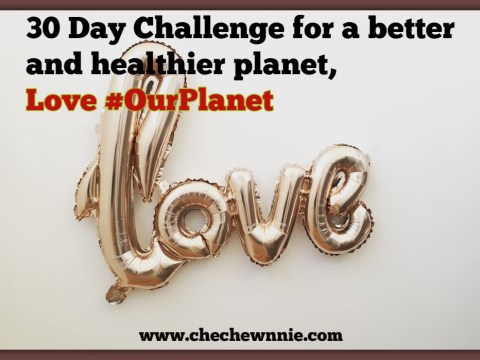30 Day Challenge for a better and healthier planet, Love #OurPlanet