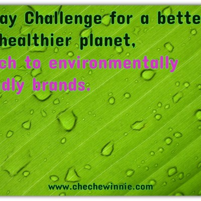 30 Day Challenge for a better and healthier planet, Switch to environmentally friendly brands.
