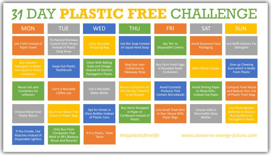 31 DAY PLASTIC FREE CHALLENGE