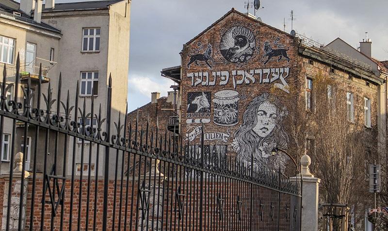 הרובע היהודי בקראקוב גרפיטי