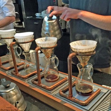 Pour over coffee being made at Ritual Coffee Roasters