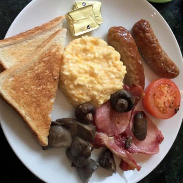 Full English breakfast at Chocolate Theatre Cafe Bar - Windsor, England