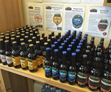 Various beers for sale at Windsor and Eton Brewery - Windsor, England