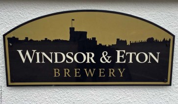 Sign for Windsor and Eton Brewery - Windsor, England (Photograph from the website: Check Before You Trek)