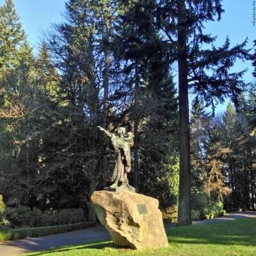 Statue of Sacajawea and her son Jean-Baptiste found in Washington Park - Portland, Oregon