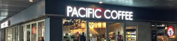 Front of a Pacific Coffee in Hong Kong, China