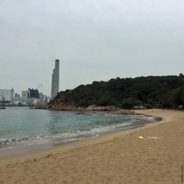 View of Power Station from Hung Shing Yeh Beach, Lamma Island - Hong Kong, China