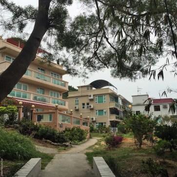 Buildings in Yung Shue Wan, Lamma Island - Hong Kong, China