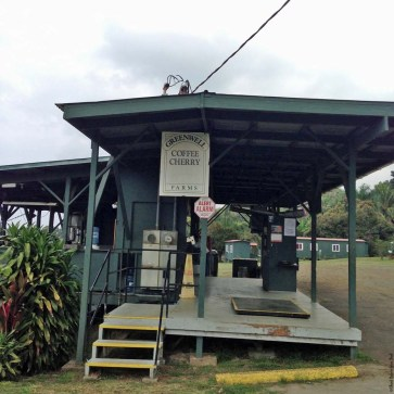 Coffee cherry processing site at Greenwell Farms - Kealakekua, HI