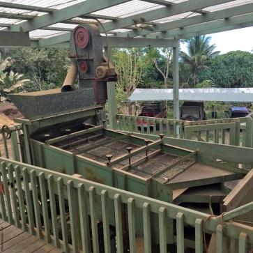 Equipment used at Holualoa Kona Coffee Company - Holualoa, HI