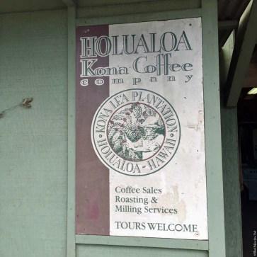 Sign at Holualoa Kona Coffee Company - Holualoa, HI