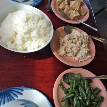 Various sides served with your meal at the Manago Hotel Restaurant - Captain Cook, HI
