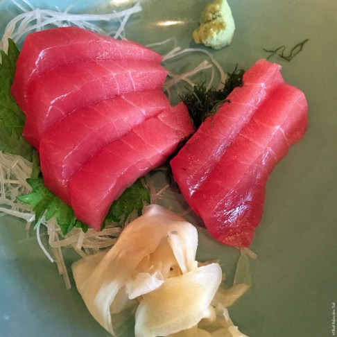 Chu Toro Sashimi at Monstera Noodles and Sushi - Kohala Coast, HI