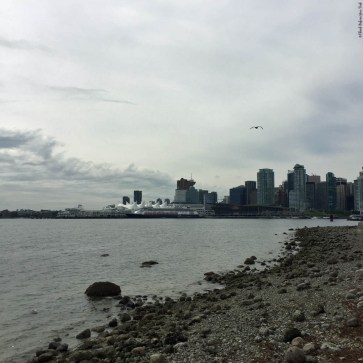 View of Canada Place from Stanley Park - Vancouver, British Columbia, Canada