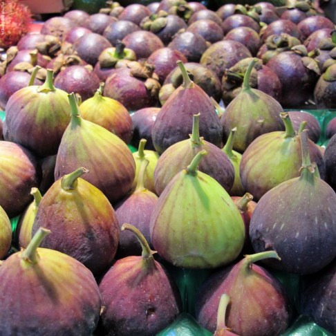 Figs for sale at the Granville Island Public Market - Vancouver, British Columbia, Canada