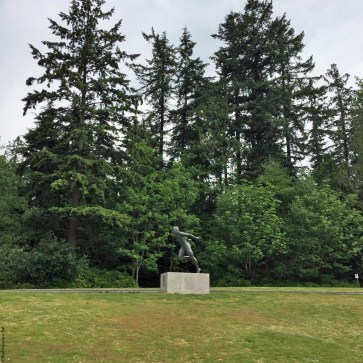 Harry Jerome statue in Stanley Park - Vancouver, British Columbia, Canada
