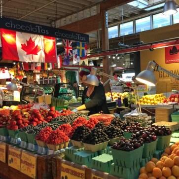 Inside the Granville Island Public Market - Vancouver, British Columbia, Canada