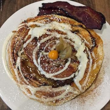 Cinnamon cream cheese swirl pancake at Jam Cafe - Vancouver, British Columbia, Canada