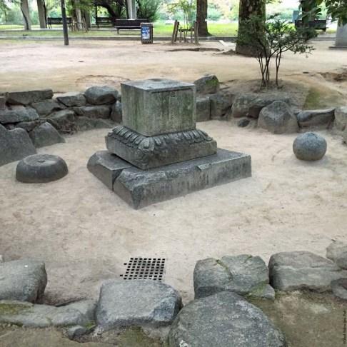 A-Bombed Gravestone - Hiroshima, Japan