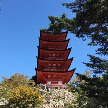 Five-Storied Pagoda - Miyajima Island, Itsukushima, Japan