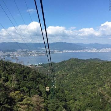 Ropeway up Mt. Misen - Itsukushima, Japan