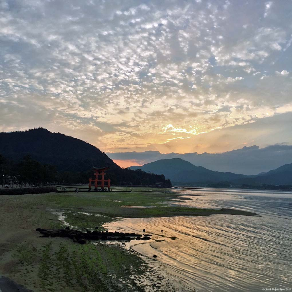 Sunset on Miyajima Island - Itsukushima, Japan