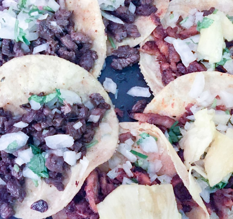 Mexican street tacos al pastor