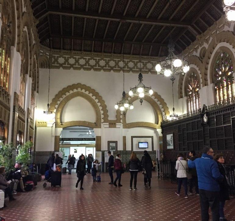 inside of the Toledo Spain train station