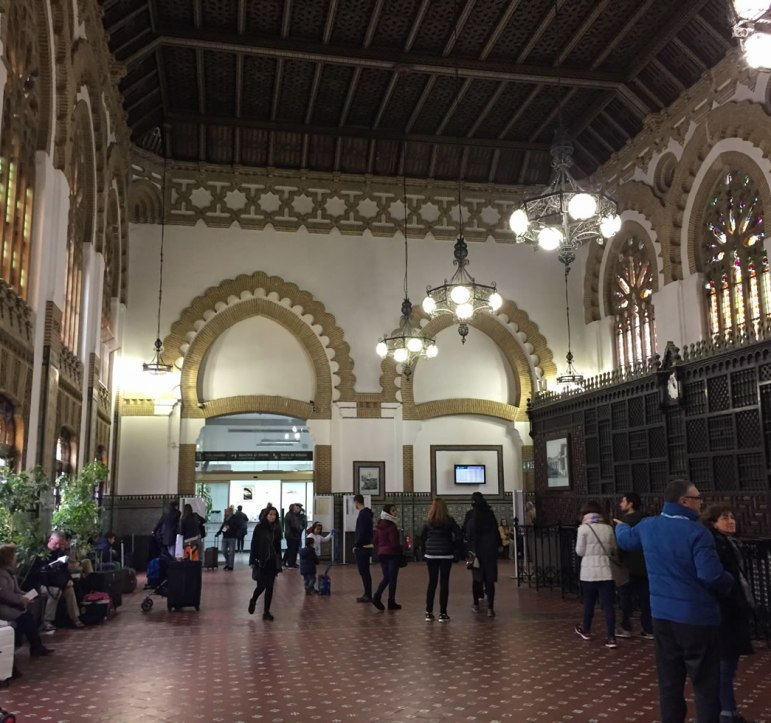 inside of the Toledo Spain train station