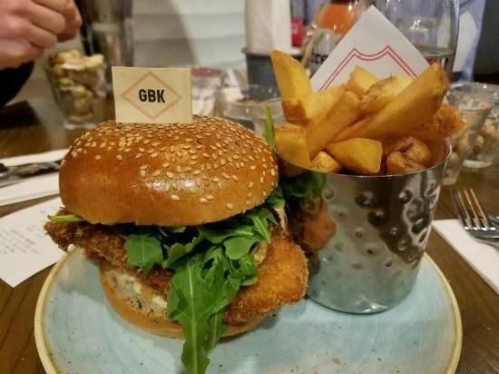 Hamburgueria da rede GBK, mais um lugar para comer sem gastar muito em Londres
