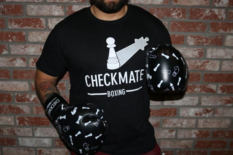 checkmate boxing logo tee