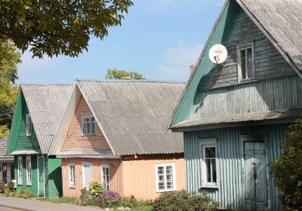 Traditional houses in Trakai, Lithuania