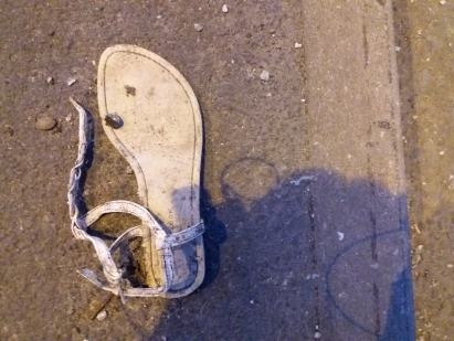 Abandoned shoe in Stoke on Trent