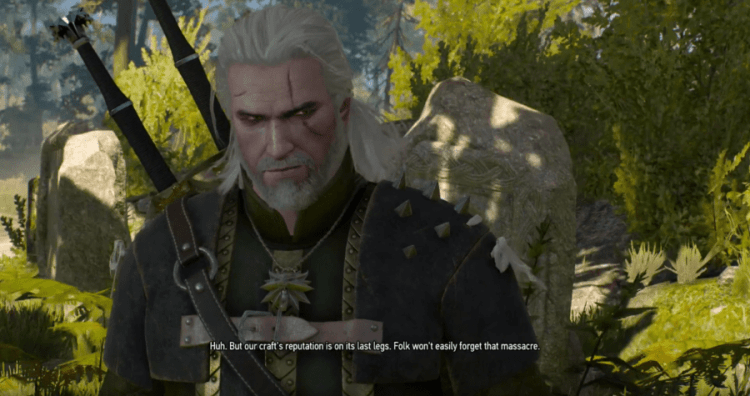 Geralt of Rivia, The Grey Player Character