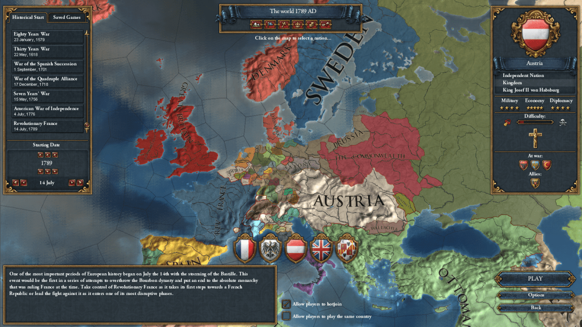 Games as Mental Comfort Food: A Year with Europa Universalis