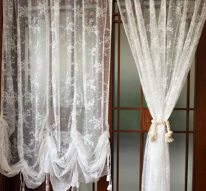 Che sia shabby chic, scandinavo. 40 Shabby Chic Curtains For The Home Living Room Kitchen Bedroom And Bathroom Checopie