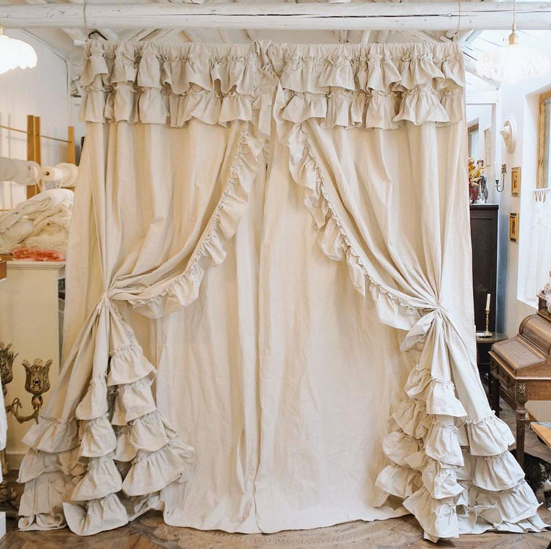 tende da sole impermeabili ikea; 40 Shabby Chic Curtains For The Home Living Room Kitchen Bedroom And Bathroom Checopie