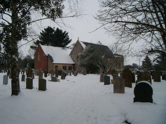 All Saint Church in winter