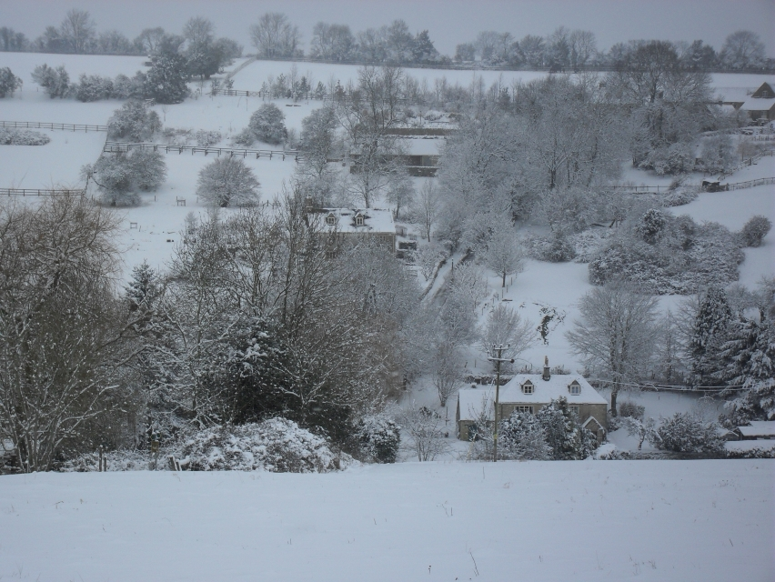 Looking across to Green Lane from Middle Chedworth