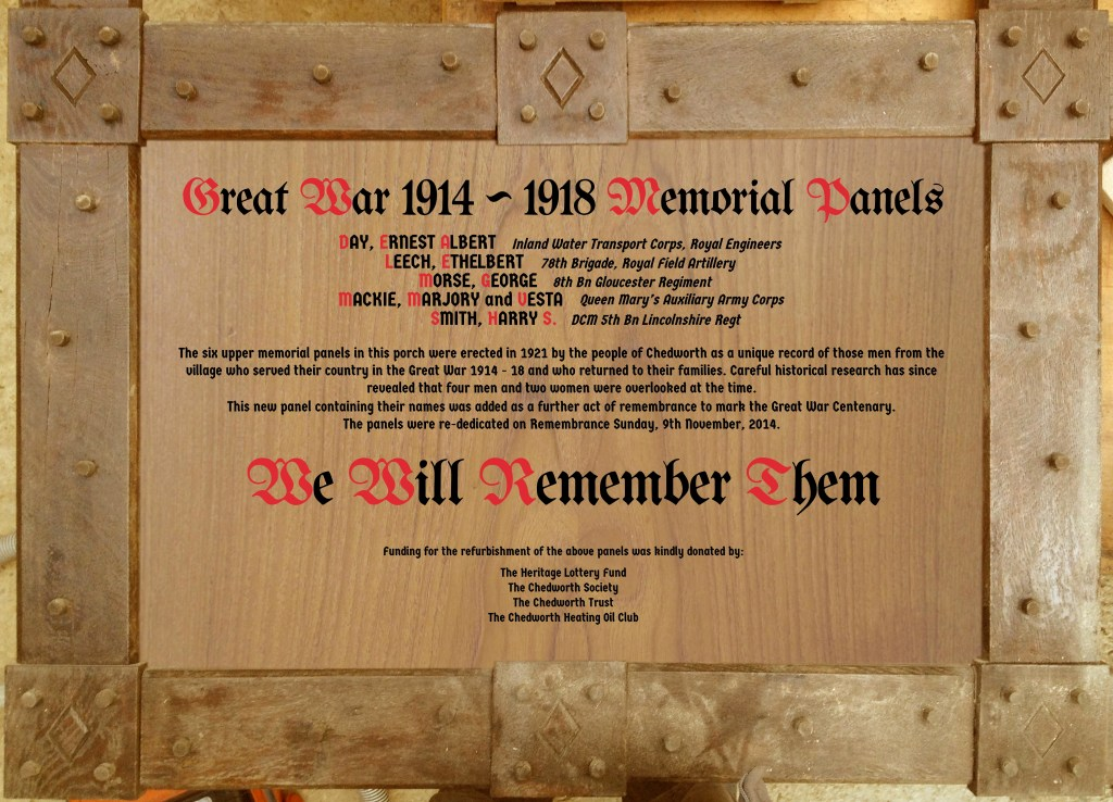 Roll of Honour Restoration