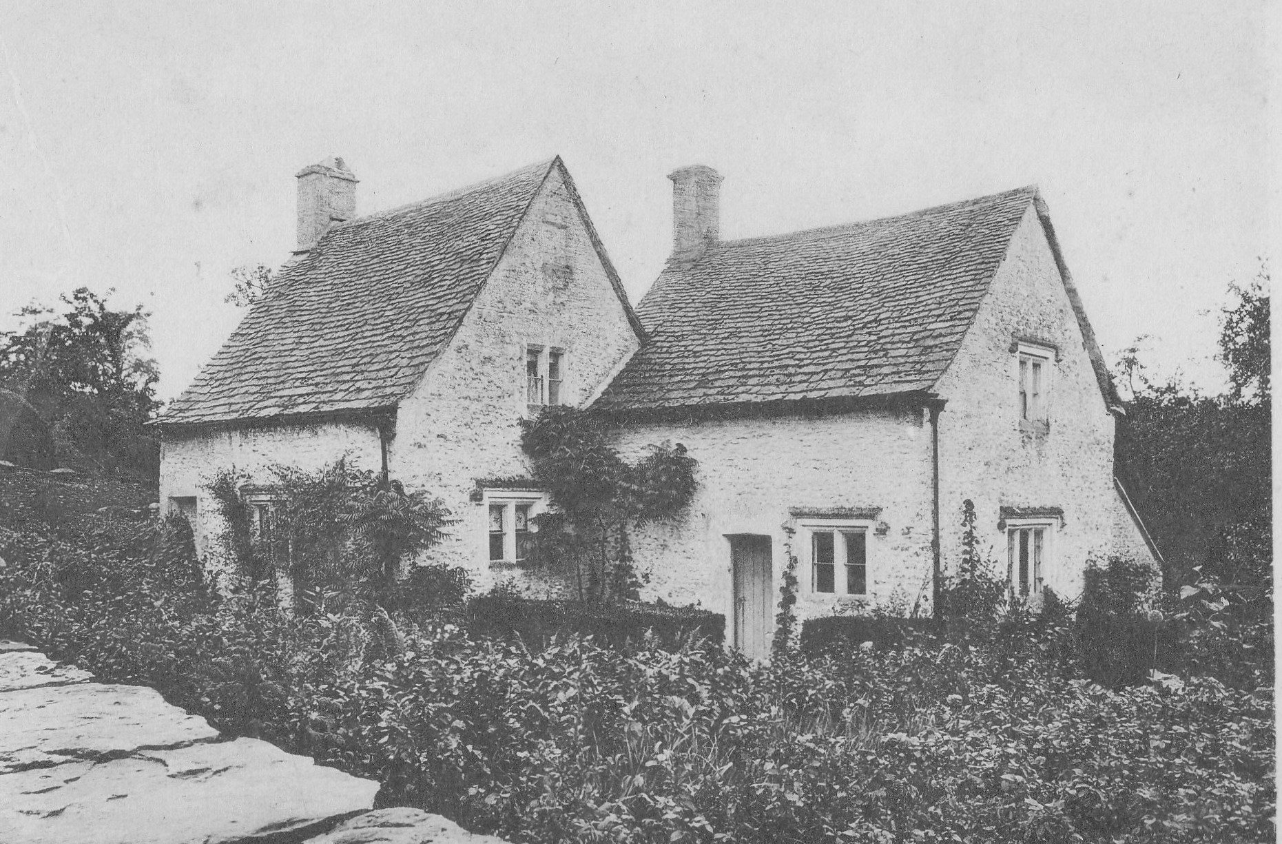 Lower Chedworth. This photograph is of Rose Cottage circa 1900 which was located in Lower Chedworth opposite York House. In 1929 it was purchased for £500 and moved to the Henry Ford museum in Michigan where it is today. Mike Tovey.