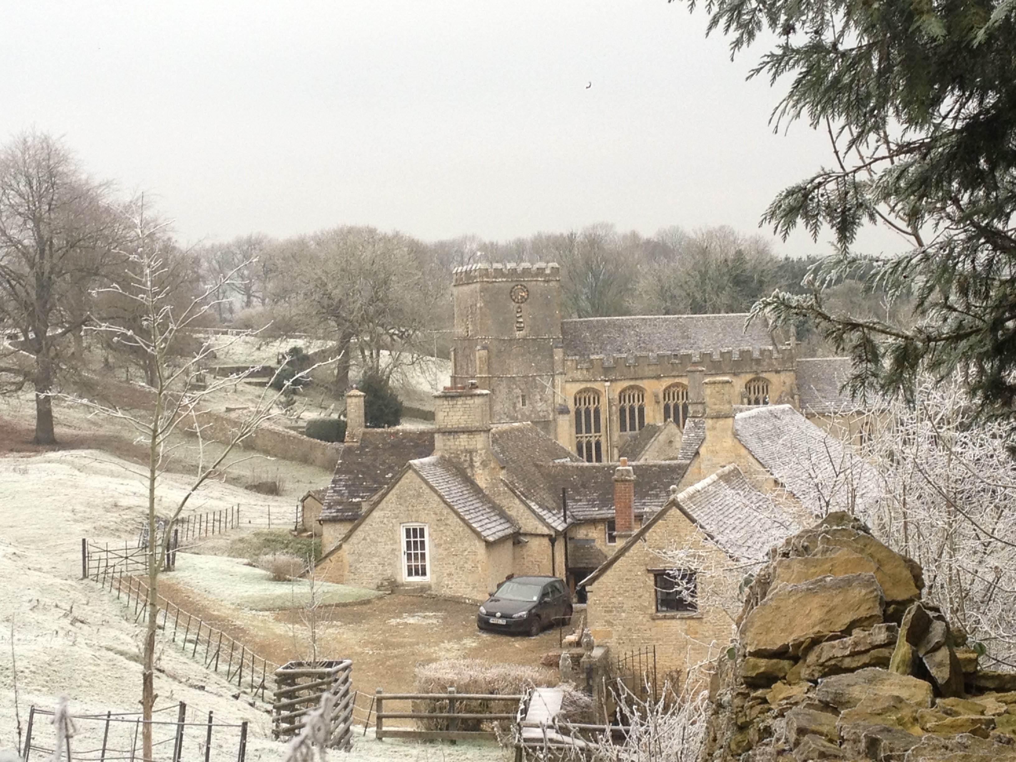 The Manor and St Andrews Church in Winter - Chris Miles